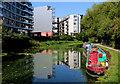 TQ3783 : Lea Navigation near the London Stadium by Chris Heaton