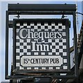 TQ6736 : Chequers Inn sign by Oast House Archive