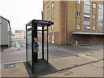 SU1585 : Wellington Street doorless phonebox, Swindon by Jaggery