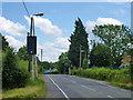 TQ5493 : Speed limit warning sign, Noak Hill by Robin Webster