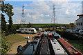 TQ3695 : Narrow Boats at Ponders End by Chris Heaton