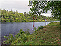 NH6038 : Navigation markers on Loch Dochfour by valenta