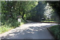 SP0934 : Snowshill Road at the entrance to Snowshill Manor by Jeff Buck