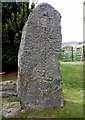 NJ4306 : The Migvie stone (front) by Bill Harrison
