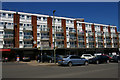 TQ2389 : Flats over shops, Bell Lane, Hendon by Christopher Hilton