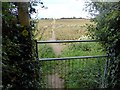 SK4122 : Field path to Breedon on the Hill by Graham Hogg