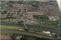 TF5902 : Downham Market and Great River Ouse: aerial 2017 by Chris