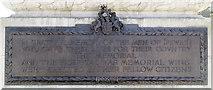 TM1645 : Ipswich World War I and II War Memorial - Plaque by Steven Fosdick