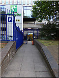 ST5973 : Pedestrian Entrance to St.James Barton NCP Car Park by Adrian Cable