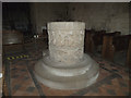 SE9755 : St Mary, Kirkburn - font by Stephen Craven