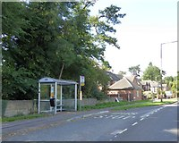 SK3442 : Bus stop and shelter by A6 south of Duffield by David Smith