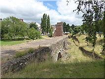 SX9192 : The mediaeval Exe Bridge by Chris Allen