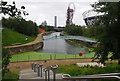 TQ3784 : River Lea junction, Queen Elizabeth Olympic Park by Ian Taylor