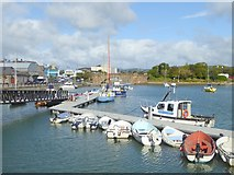 X2693 : Small boats in Dungarvan Harbour by Oliver Dixon
