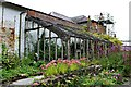 SN4860 : Derelict greenhouse at Home Farm by Richard Hoare