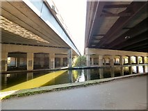 SJ7993 : Reflections between the carriageways by Gerald England