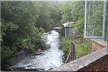ST2198 : River Ebbw below Crumlin Navigation Colliery by M J Roscoe