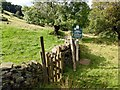 SK0279 : Peak & Northern Footpaths Society sign #424 by Graham Hogg