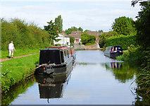SO8690 : Canal moorings near Swindon in Staffordshire by Roger  Kidd
