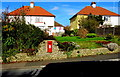 SY3098 : Postbox in an Axminster wall by Jaggery