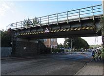 ST1775 : Virgil Street railway bridge, Grangetown, Cardiff by Jaggery