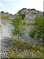 SK1865 : Scree and cliffs in Lathkill Dale by David Smith
