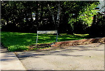 ST0881 : Woodland Crescent name sign, Creigiau by Jaggery