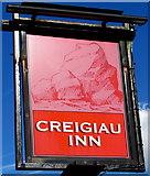 ST0881 : Creigiau Inn name sign, Creigiau by Jaggery