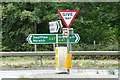 TF7513 : Roadsigns on the A47 by Adrian Cable