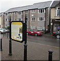 SS9992 : Information board, Llwynypia Road, Tonypandy by Jaggery