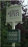 TG3204 : Sign for the New Inn, Rockland St Mary by JThomas