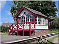 SJ3377 : The signalbox at Hadlow Road railway station by Jeff Buck