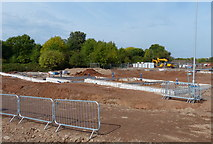 SK5802 : Construction on the former St Mary's Allotments by Mat Fascione