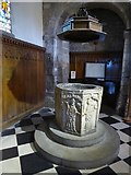 SK2168 : Font in All Saints' church, Bakewell by David Smith