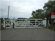 TM4598 : Manually operated level crossing west of Haddiscoe Railway Station by JThomas