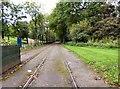 SD8303 : Tramlines into Heaton Park by Gerald England