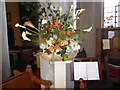 TQ6653 : Flower festival at St Lawrence's Church, Mereworth by Marathon
