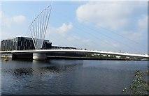 SJ8097 : Footbridge over the canal by Philip Platt