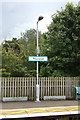 TL9165 : Thurston Railway Station sign by Adrian Cable