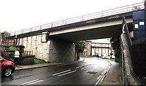 SS9992 : North side of the A4119 bridge, De Winton Street, Tonypandy by Jaggery