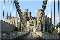 SH7877 : Crossing Telford's suspension bridge by Richard Hoare
