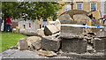 ST5222 : Damaged Market Cross, Ilchester by Rossographer