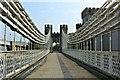 SH7877 : Crossing Telford's suspension bridge - viewed ENE by Richard Hoare