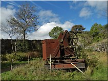 SK2057 : Abandoned quarrying machinery by Neil Theasby