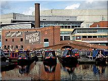SP0686 : Moored boats in Gas Street Basin, Birmingham by Roger  Kidd