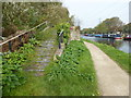 TQ3799 : Remains of an old bridge over the River Lee Navigation by Marathon