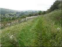 SK2375 : Path by rough ground to Stoney Middleton by David Smith