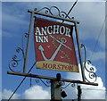 TG0043 : Sign for the Anchor Inn,  Morston by JThomas
