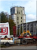 N9690 : Derelict grain drying tower by Oliver Dixon