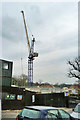 TQ2292 : Crane on building site, Mill Hill by Robin Webster